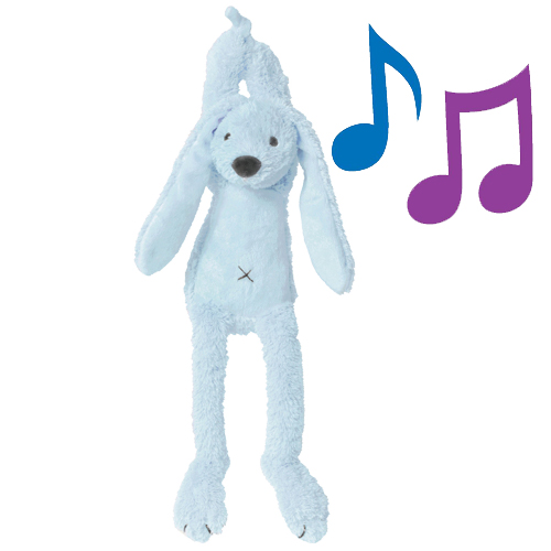 Geboorte knuffels - Blue monkey Musical