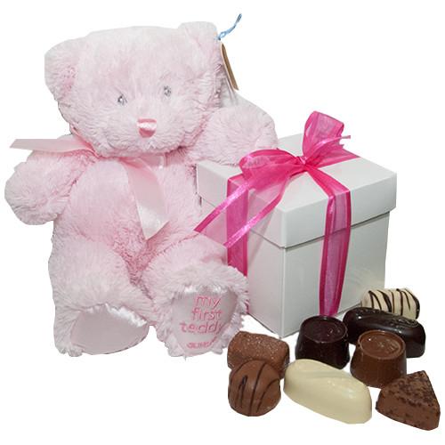 Kraamcadeau My First teddy (girl)