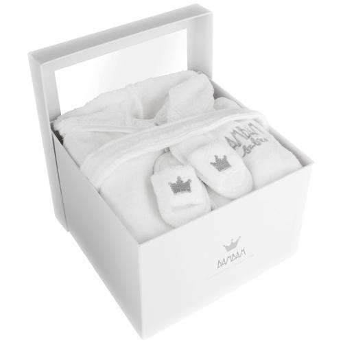 Geboorte cadeau BamBam grijs/wit